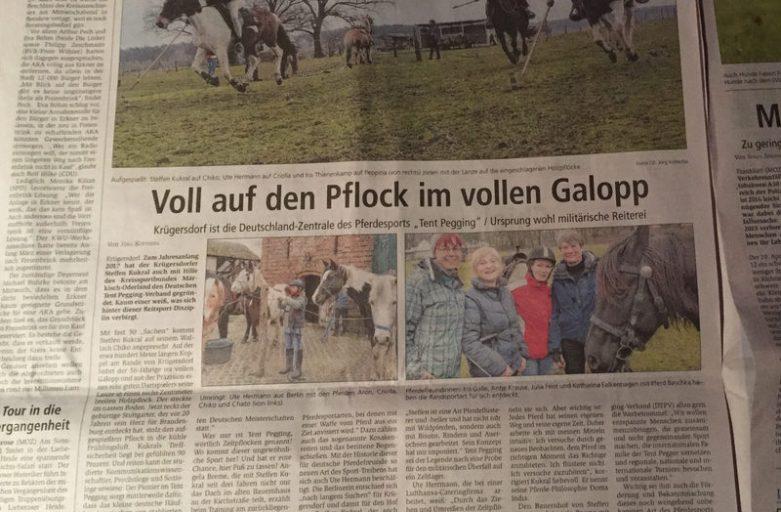 Über BERLIN 2017 und Tent Pegging in Deutschland.